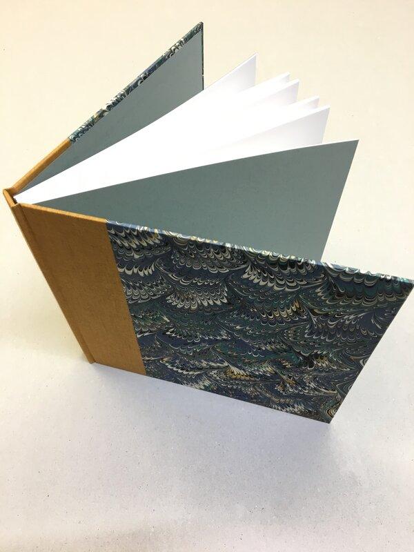 Binding a hard cover sketchbook  block mentored by Rachel Ward-Sale
