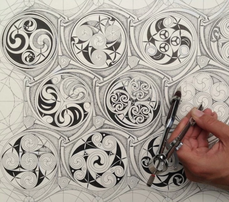 Celtic Pattern, Geometry and Imagination : Week Course block mentored by Sacred Art of Geometry Studios Docherty