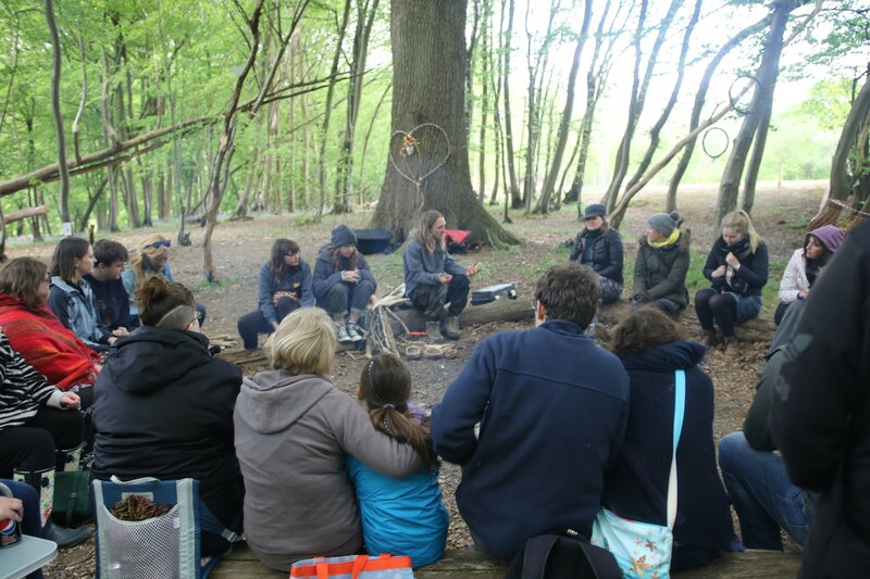 Re-Connection Woodland day for adults block mentored by Luke Funnell