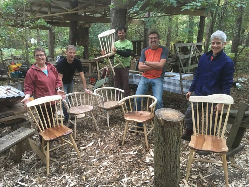 Traditional chair making course course mentored by Danny Harling