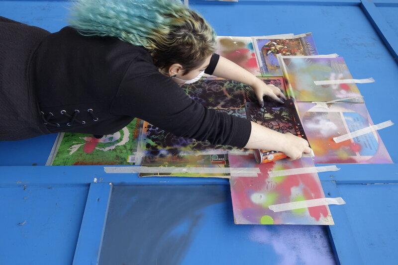 Street Art - Intermediate Classes (GCSE+)  block mentored by Sarah Gillings
