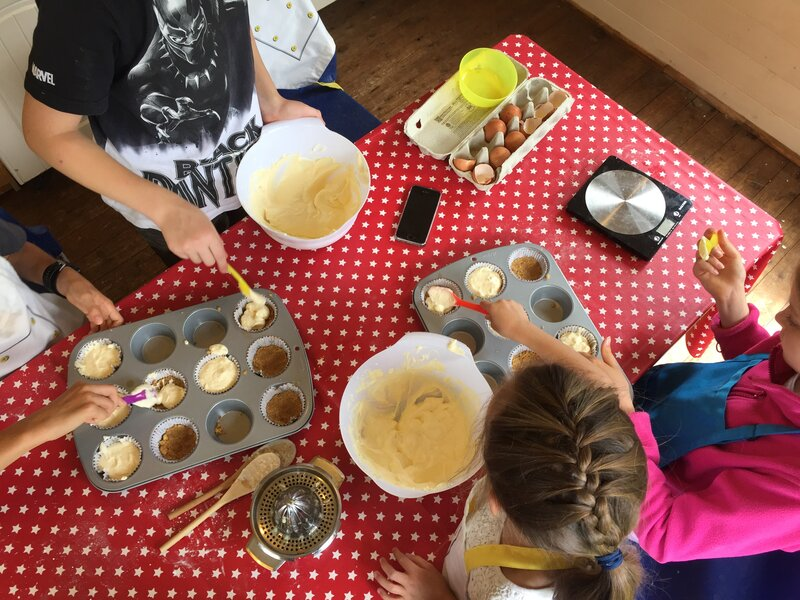 Children's Home Ed Cooking Class ages 7+ block mentored by Lisa James