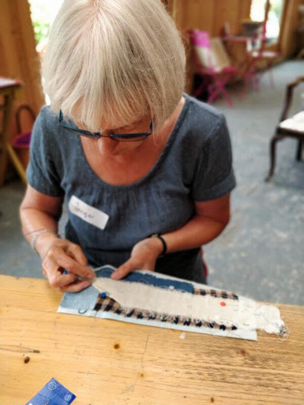 Begin a Fabric and Stitch Journey block mentored by Amanda Duke