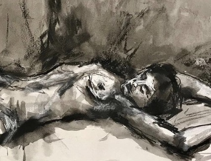 Life Drawing Session. session mentored by Catherine Greenwood