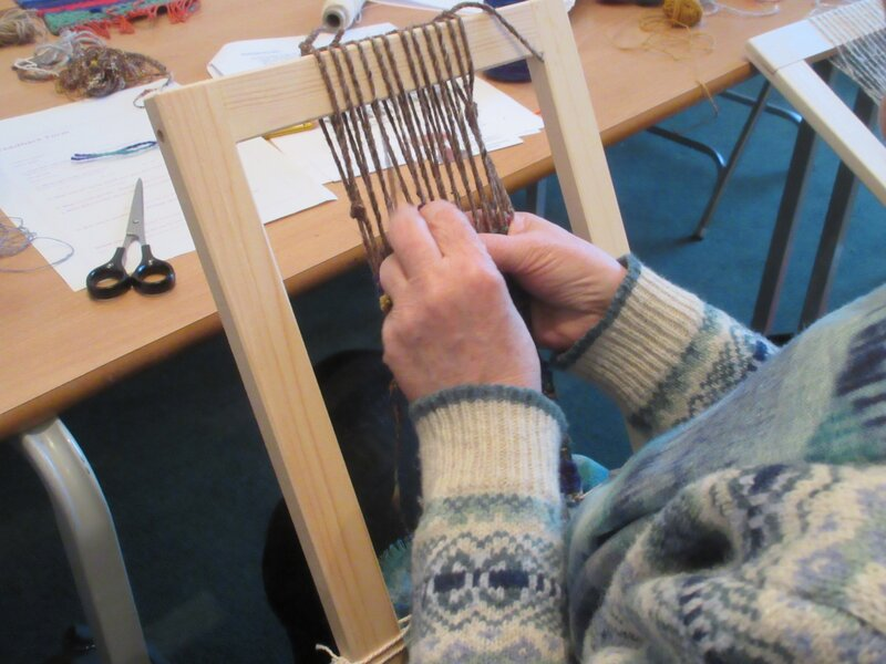 Introduction to Tapestry Weaving block mentored by Jackie Bennett
