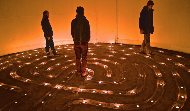 The Art and Craft of Labyrinths block mentored by Sacred Art of Geometry Studios Docherty