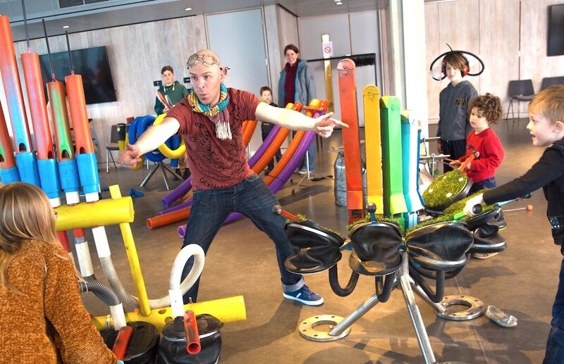 Orchestra Of Objects Making Music Workshop (British Airways i360)  block mentored by Ben Gates