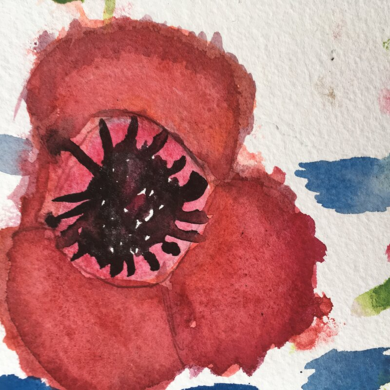 Art with Caz on Fridays block mentored by Catherine Greenwood