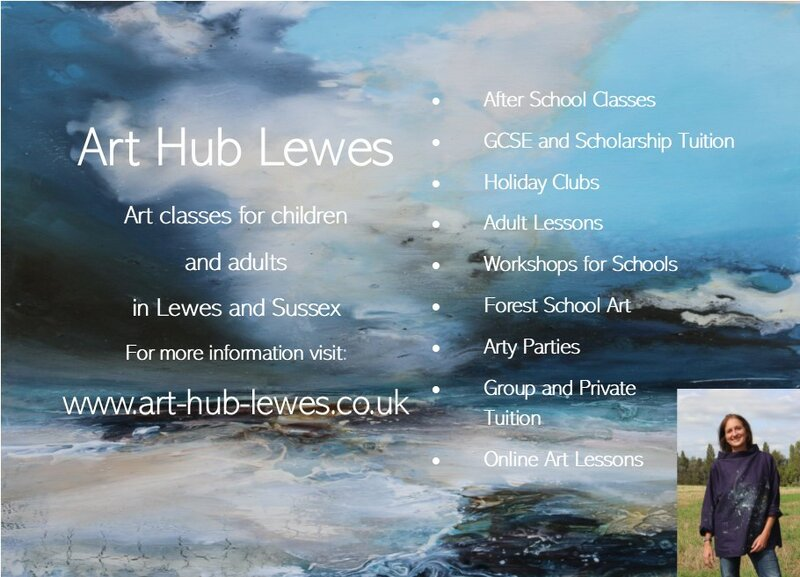Art Hub Lewes. Art courses for children and adults in Lewes and Sussex. block mentored by Suzanne Hennegrave