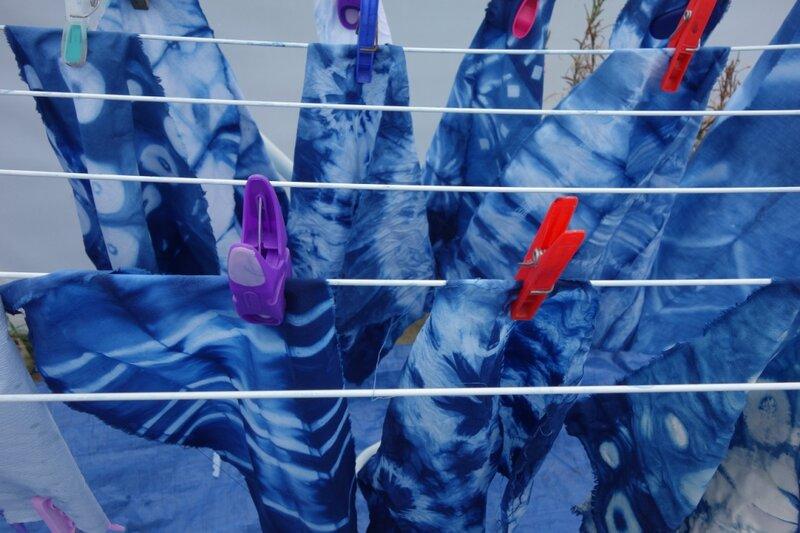 Explore Shibori - An ancient Japanese resist dye method for fabric block mentored by Amanda Duke