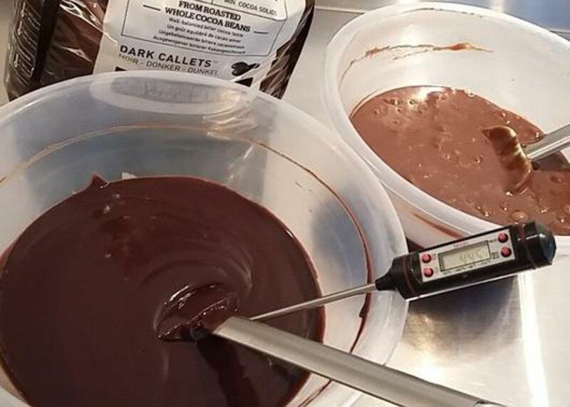 Artisan Chocolate Making Masterclasses block mentored by Les Nicholson