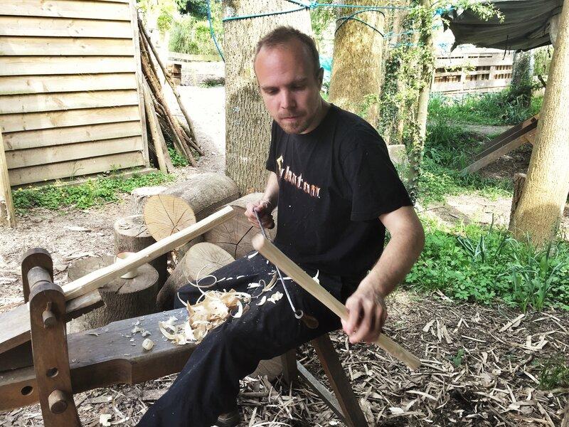 Green woodworking  - Make a Stool  block mentored by Forest Garden Shovelstrode Shovelstrode