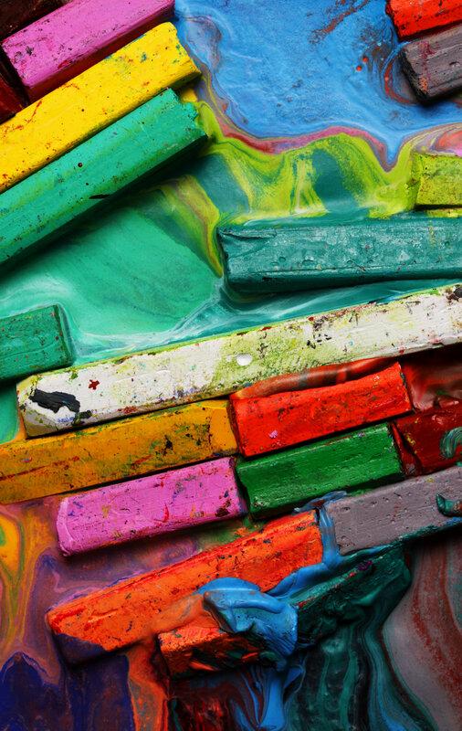 Pop Dot Art Club block mentored by Poppy Doyle