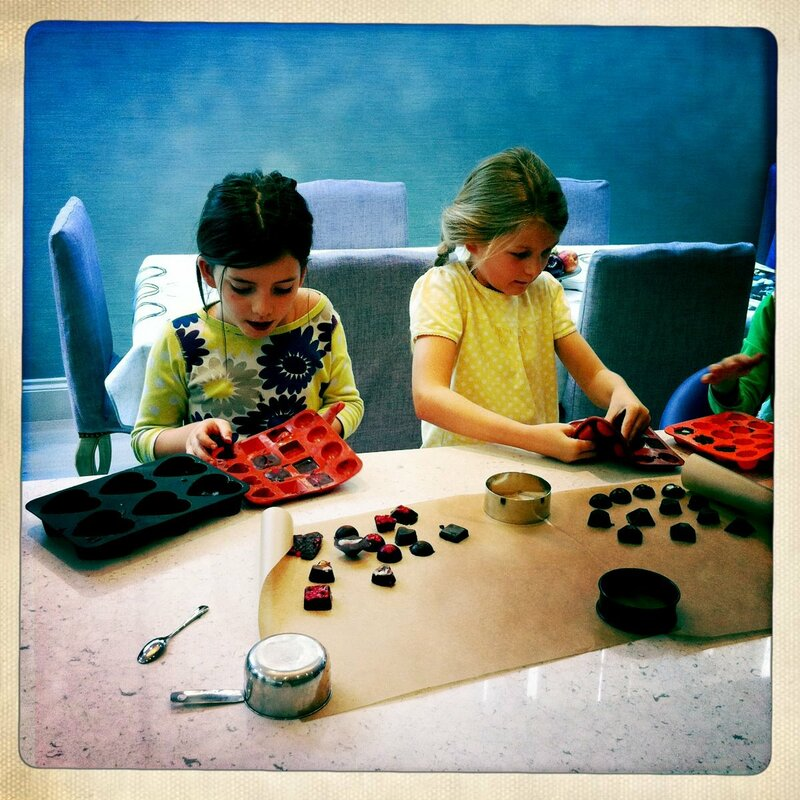 Introduction to raw chocolate for children.  block mentored by Laura Forge