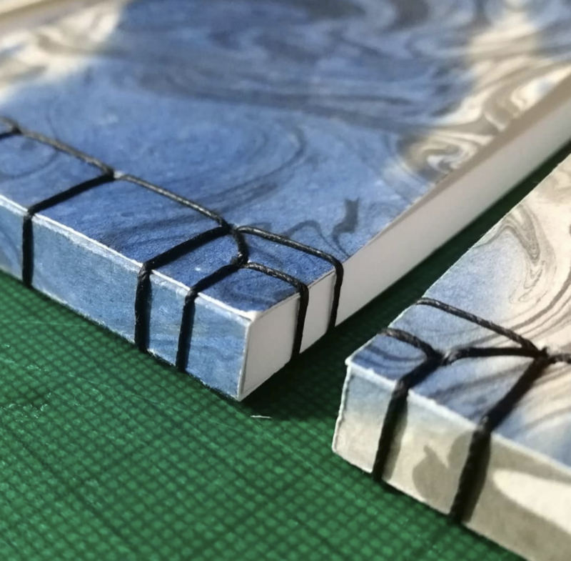 Japanese Bookbinding with Bindfulness block mentored by Hope Fitzgerald