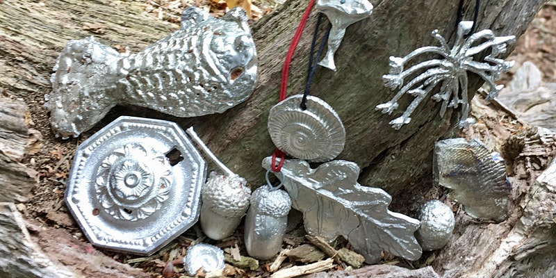 Pewter Casting in the woods - Delft Clay workshop mentored by Dee Heyward-Ponte
