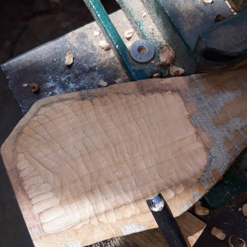 Spoon Carving Workshop block mentored by William Hulbert