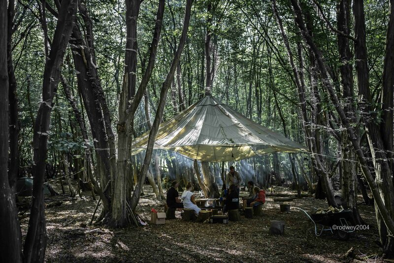 Bespoke private woodland event event mentored by Chris Packe