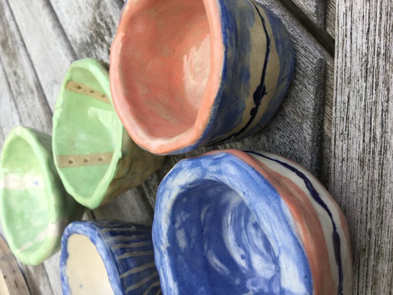 Pinch Pot Making Workshop block mentored by Jenny Wightwick