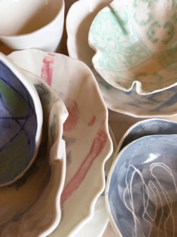Exquisite Porcelain Bowls and Dishes block mentored by Jenny Wightwick