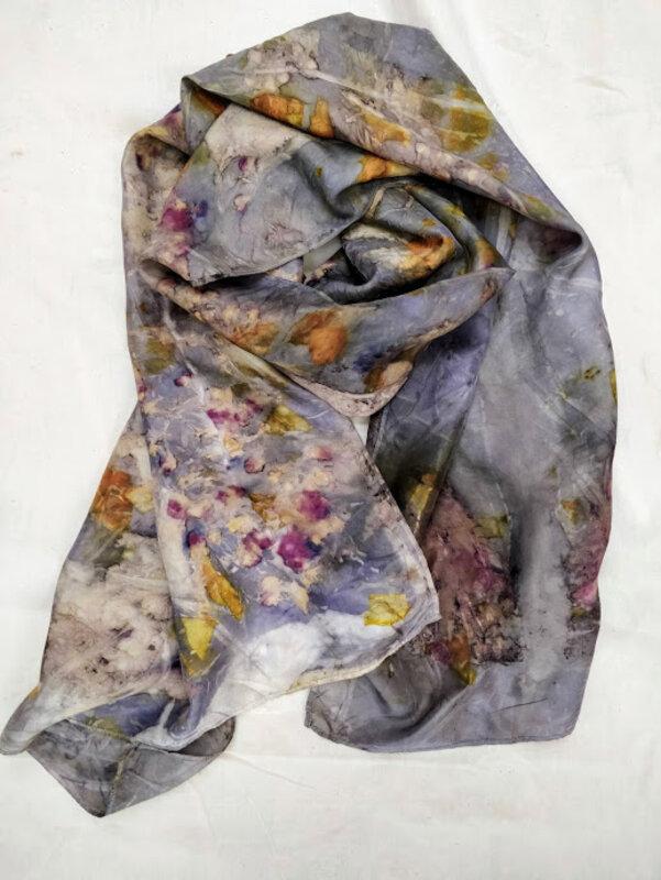 Natural Dye + Ecoprint 2 Day Course block mentored by Amanda Duke