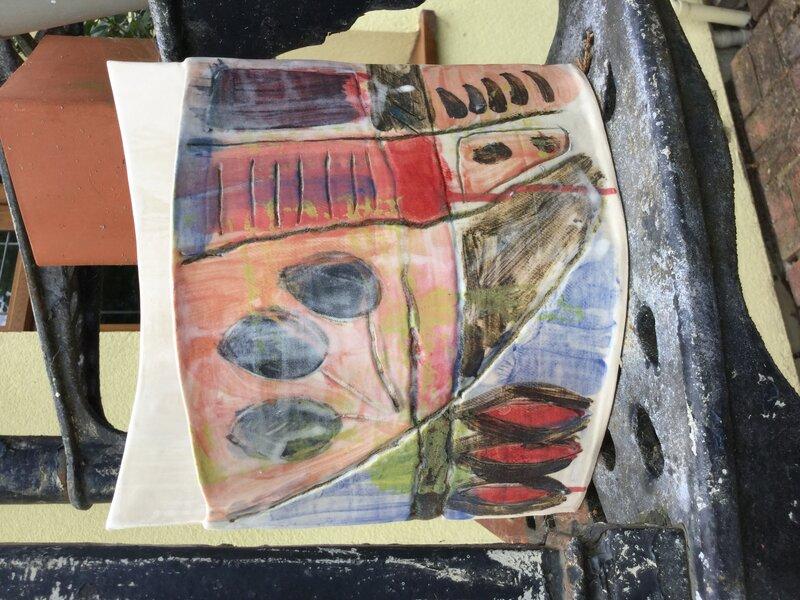 Stoneware Vessel block mentored by Jenny Wightwick