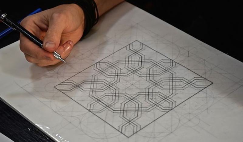 Persian Patterns block mentored by Sacred Art of Geometry Studios Docherty