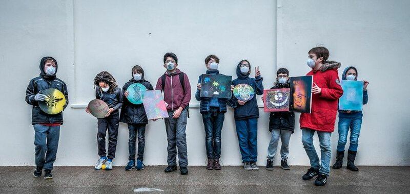 The Science of Spraypainting workshop mentored by Sarah Gillings