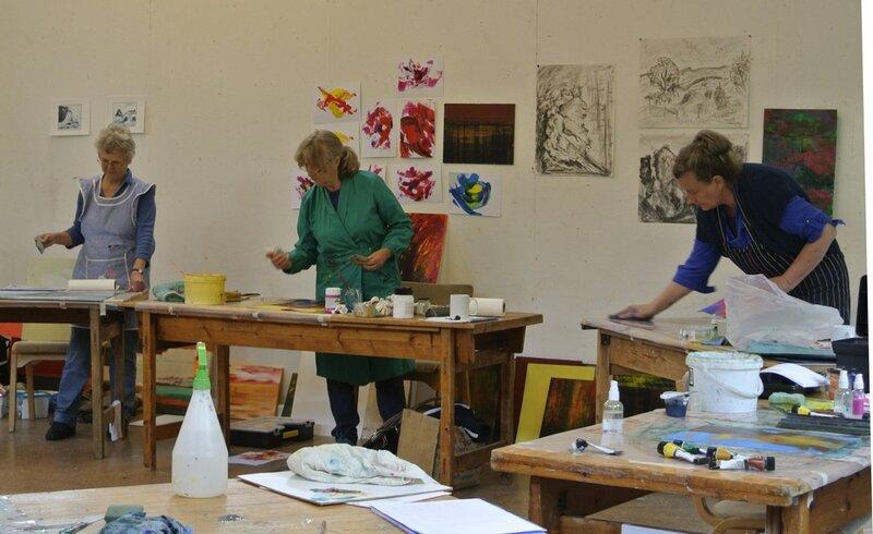 Thursday Morning Painting Group block mentored by Richard Heys