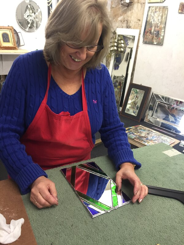 One Day Stained Glass Course - Teens block mentored by Emma Edelston