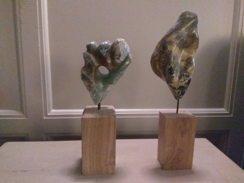 Soapstone sculpture block mentored by Dorothea Kuth