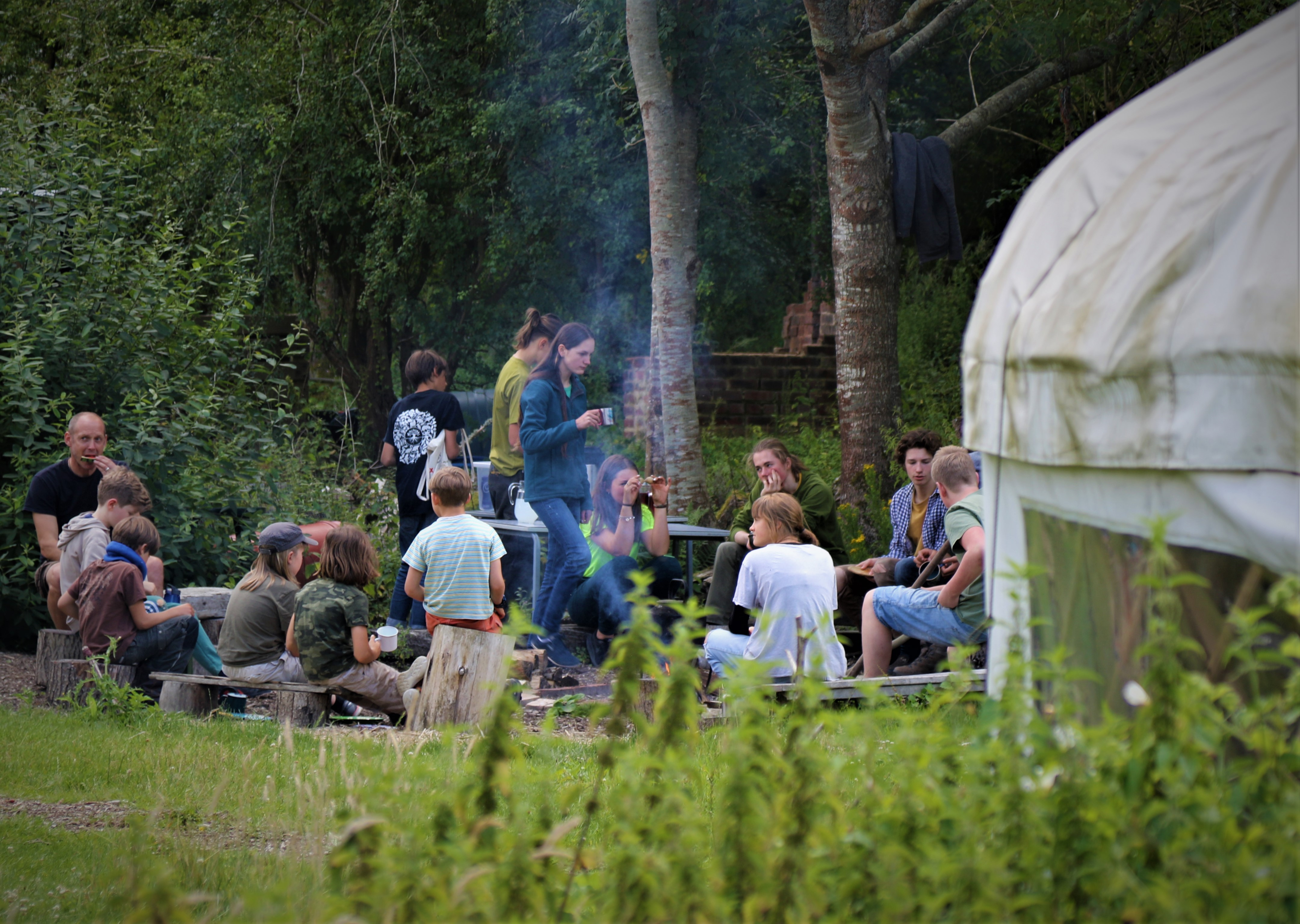 Earth care through the four elements camp mentored by Phil Greenwood