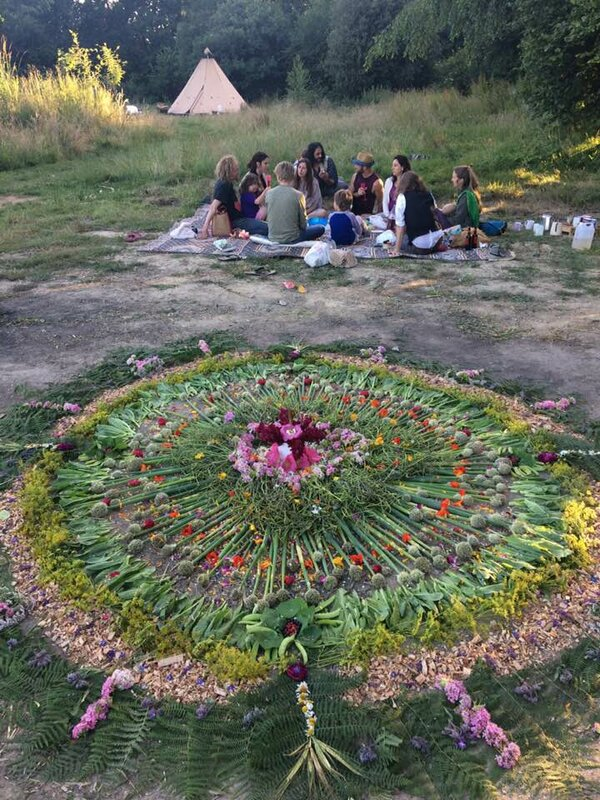 Women's Therapeutic Arts circle block mentored by Maria Rose