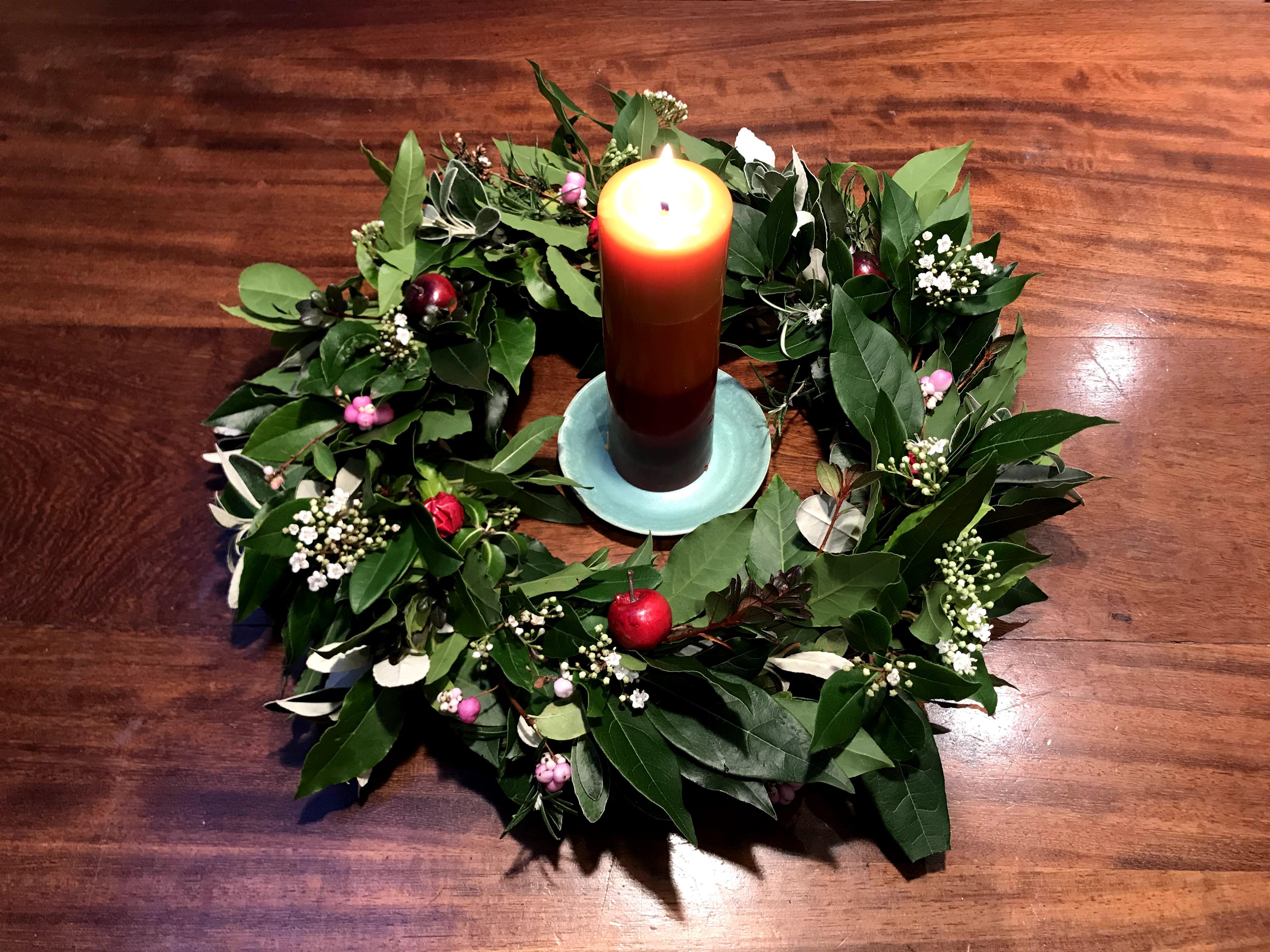 Christmas Wreath Making workshop mentored by Annabelle  Davis