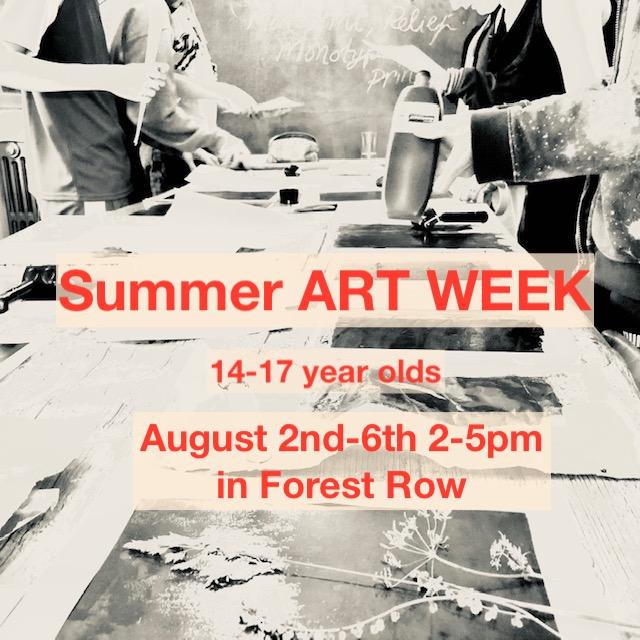 Summer ART week workshop mentored by Joelle Chantler MCGI