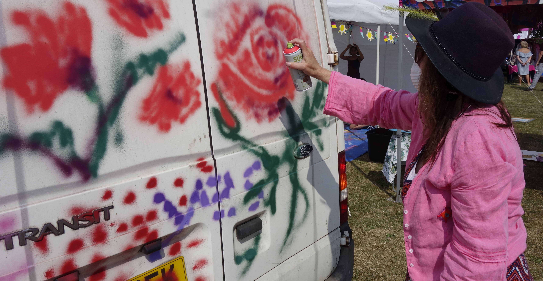 Street Art for Seniors  workshop mentored by Sarah Gillings