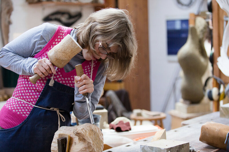 Sculpture Studio Days  block mentored by Dorothea Kuth