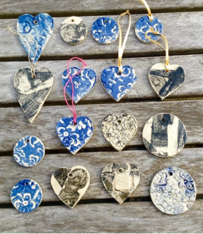 Stoneware Clay Wall Hanging Workshop block mentored by Jenny Wightwick