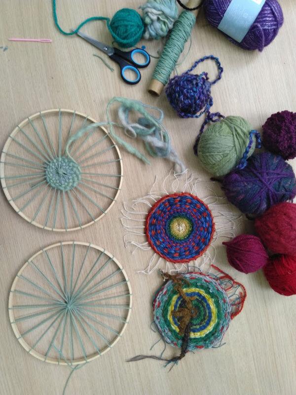 Circular Weaving workshop block mentored by Jackie Bennett