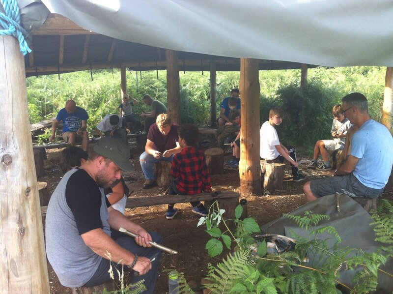 Feral Fathers, Savage Sons: a wild woodland weekend  block mentored by Chris Packe