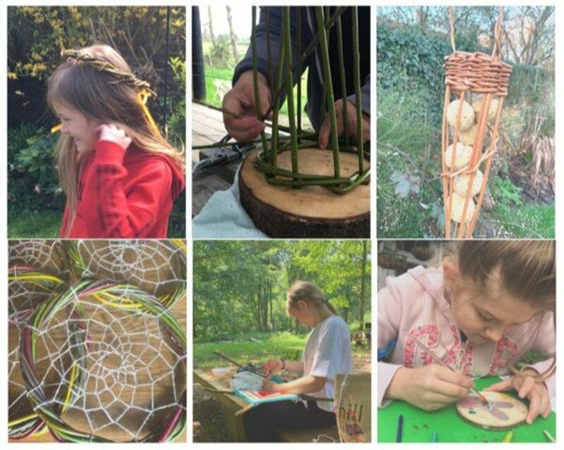 Birtley Woodland Workshops block mentored by Lorraine  Ellery Matthews