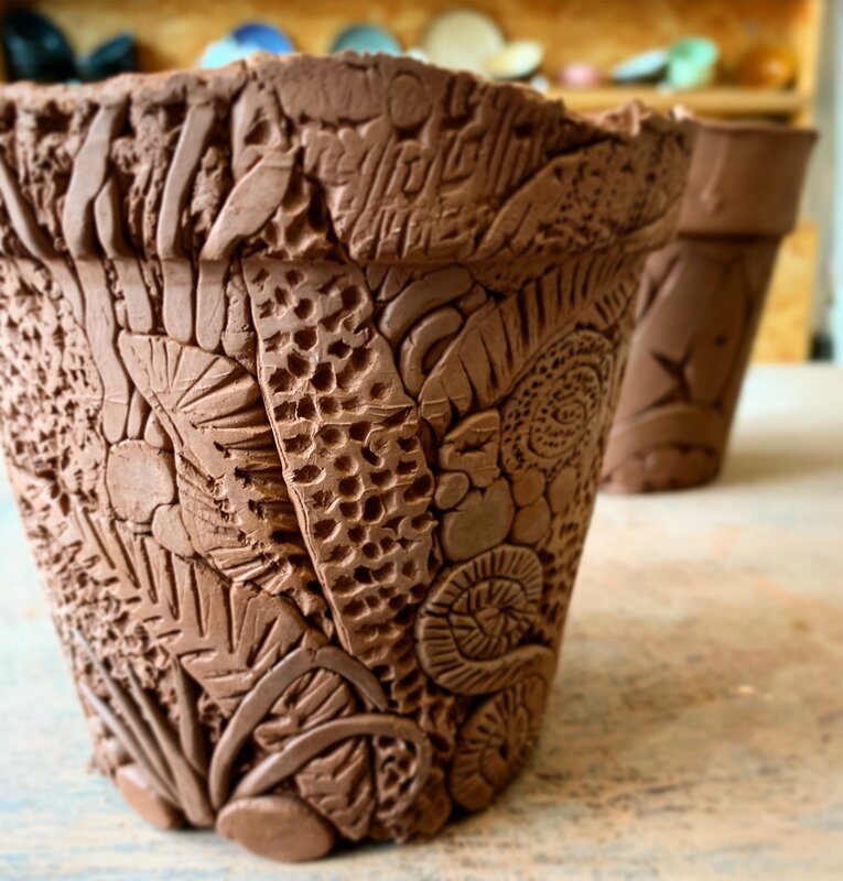 Flower Pot - Hand Building techniques in clay - workshop  block mentored by Mark Ciavola