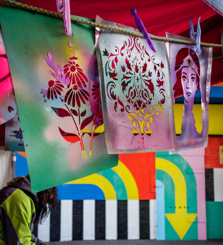 Summer Street Art School workshop mentored by Sarah Gillings