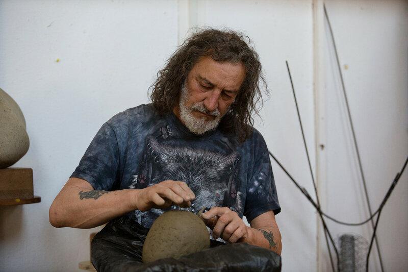 Evening Sculpture Class block mentored by Dorothea Kuth