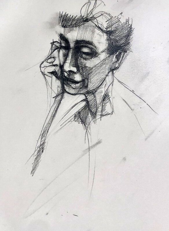 Look Learn Draw - Student Drawing Club - East Grinstead block mentored by Linda De Canha