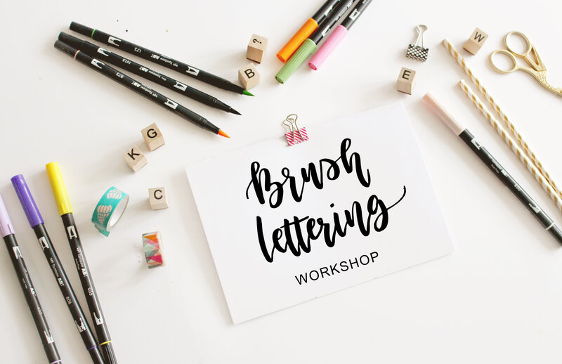 Watercolour Brush Lettering Workshops block mentored by Alina Snepste