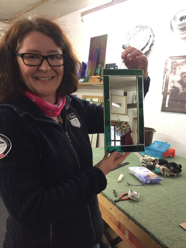One Day Stained Glass Course - Adults block mentored by Emma Edelston