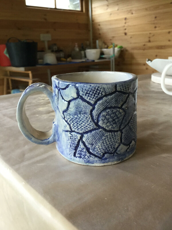 Bespoke Stoneware Cup block mentored by Jenny Wightwick