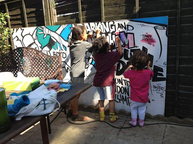 Graffiti and Street Art at Jay's Paint Shop.. block mentored by Julian Johnson