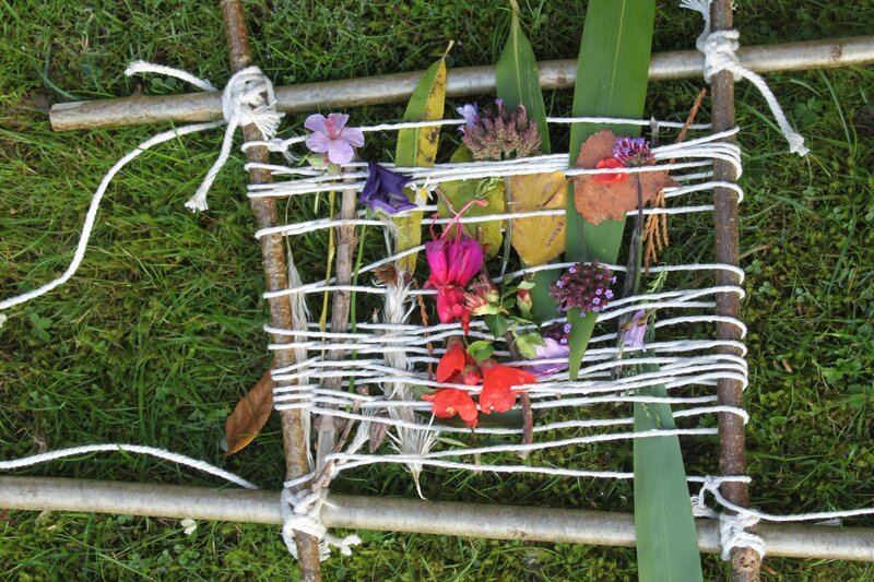 Forest art workshop.  Art Hub Lewes. block mentored by Suzanne Hennegrave
